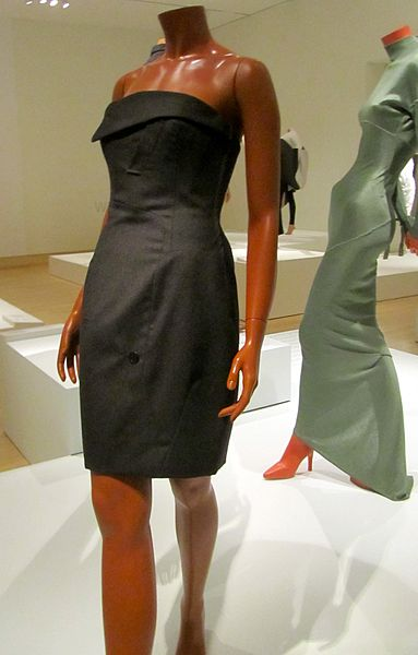 http://commons.wikimedia.org/wiki/File:Franco_Moschino_dress_heavy_wool.jpg